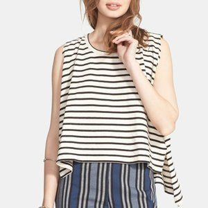 FREE PEOPLE Madness Stripe Muscle Tank Top - M
